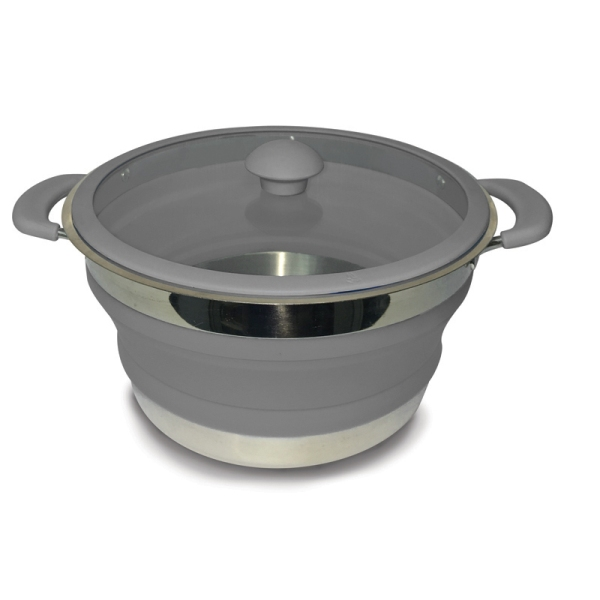 Grey Folding Saucepans 3 Lt