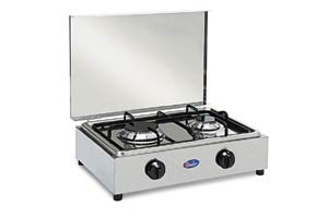 Parker - Stainless steel 2 burner stove
