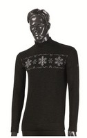 Asa - Mesh High Neck Long Sleeve Merino Heavy Black