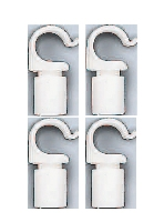 Beaver brand - Clips for Poles 19 mm 4 pcs.