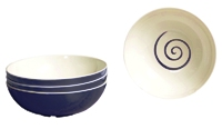 Gimex - Twist Blue 4 pz Cereal Bowl