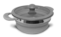 Kampa - Grey Folding Saucepans 1,5 Lt