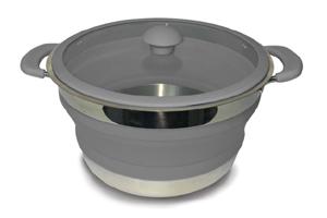 Kampa - Grey Folding Saucepans 3 Lt
