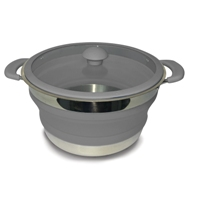 Kampa - Grey Folding Saucepans 3 Lt