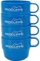 Ki - Mug Plastica con Custodia 4 pezzi