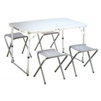 M&S - Camping Alu table + 4 stools