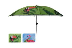 Ki - Ombrellone Spiaggia 200 cm Flamingo