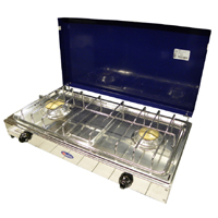 Parker - 5522 Cooker 2 Fires Blue Steel