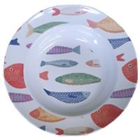 Pesci - Piatto Fondo Melamina 23 cm Pesci