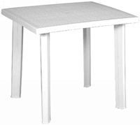 Rodeschini - White Ribbon Table 80x75