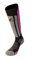 Tecso - Ski Wool Socks Black Fuxia