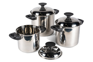 Kampa - Space Saver Cook Set Stainless