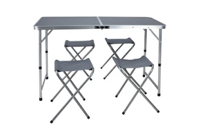 Ki - Folding Table - 4 Stools